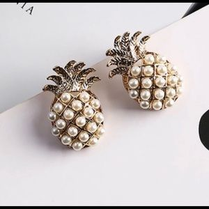 Sweet pineapple statement earrings